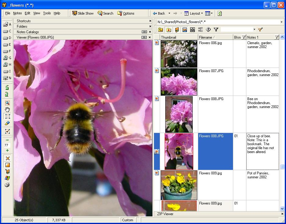 Click to view Atlast! File Notes Organizer 3.5 screenshot